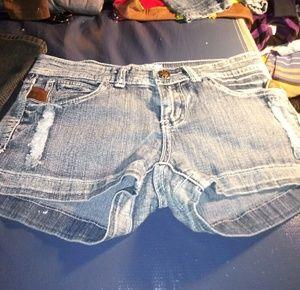 SAZA Jean Co. Blue Jean Cutoffs size 6 like new!